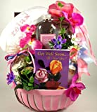 Pretty in Pink Spa and Gourmet | Get Well Spa Gift Basket for Women with Gourmet Snacks