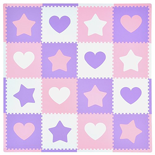 Tadpoles Hearts Stars Playmat Purple product image