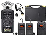 zoom h6 module - Zoom H6 Six-Track Portable Handy Recorder Bundle with Movo UHF Wireless Dual Lavalier Microphone System