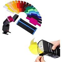20Pcs Filtros de Colores Transparentes, Filtro de Gel de Corrección, Filtro de Luz, Cámara Flash Speedlite,Fotografía…