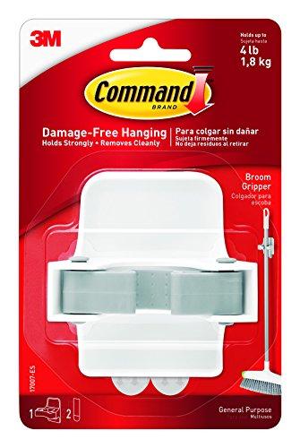 Command Broom & Mop Gripper, 1-Gripper - Es Plastic Handle