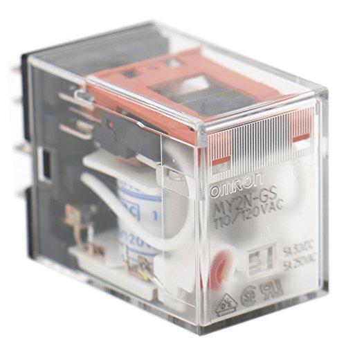 Baomain Gereral Purpose Relay MY2N-GS 110//120 VAC Coil LED Indicator 8 pin terminal