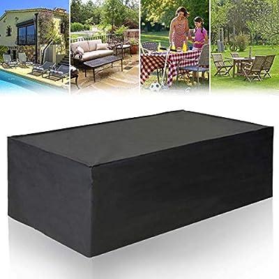 Cubierta de Mesa de jardín Rectangular, Impermeable y Transpirable Oxford Exterior Muebles Cubierta Negro (Size : 200 * 160 * 70cm): Amazon.es: Hogar