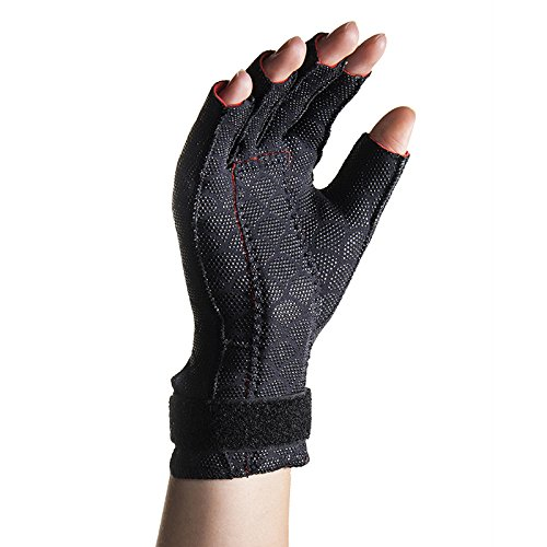 Pair of Thermoskin Carpal Tunnel Glove, Left and Right, Black, Lg