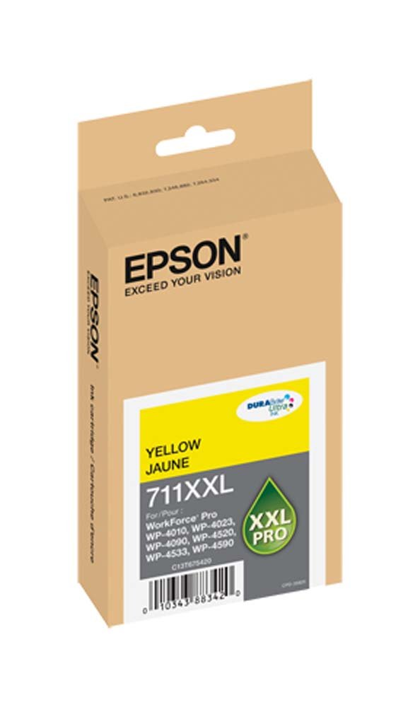 Epson DURABrite Ultra Yellow Ink Cartridge, 3400 Yield (T711XXL420)