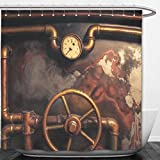 Beshowere Shower Curtain Vintage Steampunk From Steam Pipeand Pressure Cotton Linen.jpg