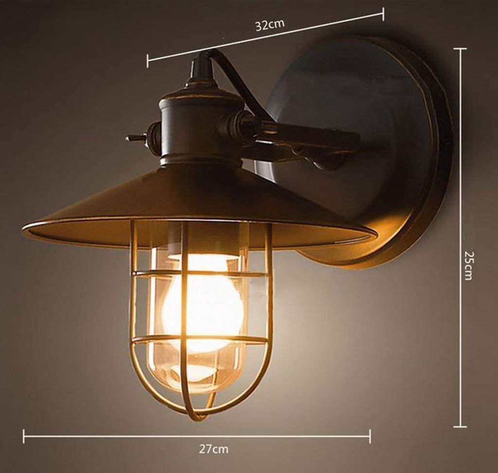 FJTXC Exquisite Industrie Retro Lampe Kreative Bett Lager Studio Dauerlicht Beleuchtung Nur E27,27  25 cm Wählen