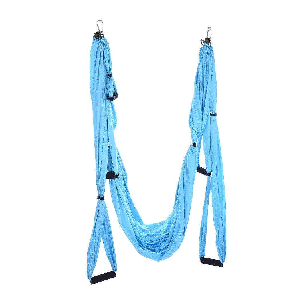 CreazyBee Yoga Swing Set Yoga Hammock Antigravity Ceiling Hanging Yoga Sling (Blue) by CreazyBee