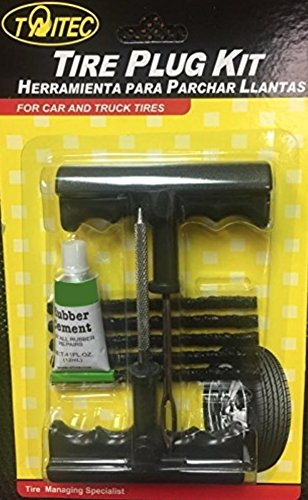 TAITEC Puncture Repair Kit PRO-1034A Car & Truck Tires Tubeless Tire Repair Plug