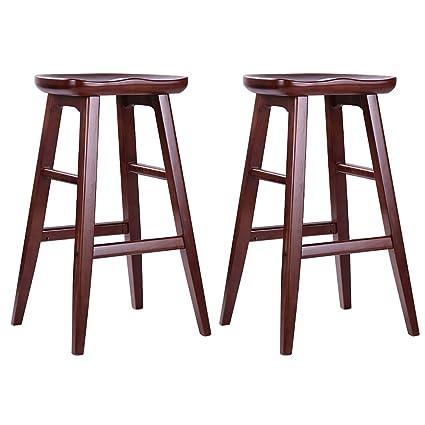 Amazon Com Nyjs Bar Stool Bar Chair Wooden Kitchen Bar