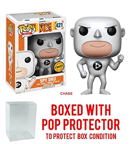 "Funko Pop! Movies: Despicable Me 3 - Spy Dru ""Gru"" CHASE VARIANT Vinyl Figure (Bundled with Pop BOX PROTECTOR CASE)"