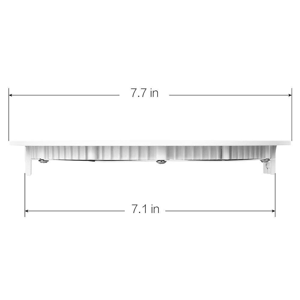 Warm White 3000K 480lm Dimmable Round Ultrathin LED Recessed Downlight Cut Hole 4.1 Inch ProGreen 6W Flat LED Panel Light Lamp Panel Ceiling Lighting with 110V LED Driver