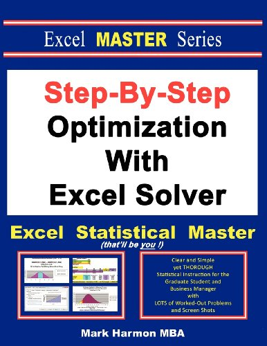 Download Step-By-Step Optimization With Excel Solver - The Excel Statistical Master