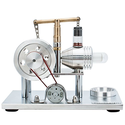 DjuiinoStar Super Stable Hot Air Stirling Engine(Solid Metal Construction), Electricity Generator(Light up LED), Ready to Run by DjuiinoStar (Image #1)