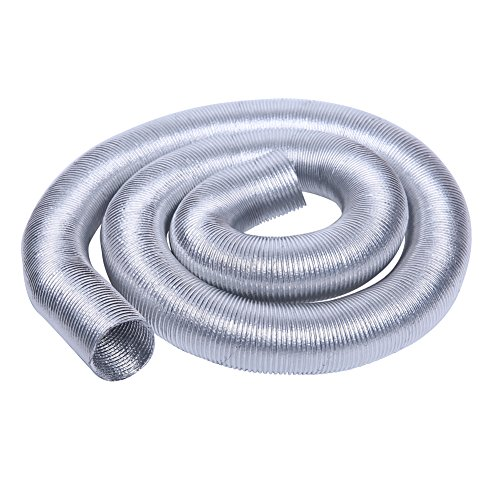 Hiwowsport Silver Thermo-Flex Wire-Hose Insulation Cool-Tube Heat Shield 3feets (3FT X 32MM(1.25''), Silver) (3' Heat Shield)