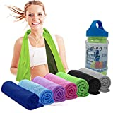 Elite Trend Cooling Towels Neck Wrap: Cold Neck Cooler Wraps,Instant Cooling Towel Coolers Hot Weather,Large 47x12 Chill It Scarf Athletes.Use it as a Cool Headband, Bandana, UPF 50