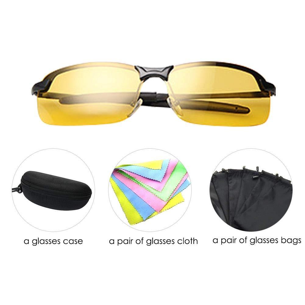 bc1f2f7b0ac1 Anti-Glare Polarized Night Vision Driving Glasses Sunglasses for Headlight  Men Women hd Sight Comfortable Yellow Lens Anti Glare Protection Safety  Fishing ...