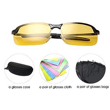 LiuXi Gafas de Sol de Seguridad con Gafas de Sol Gafas de ...