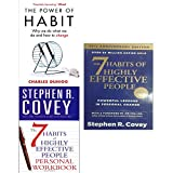 img - for Power of habit, 7 habits of highly effective people and personal workbook 3 books collection set book / textbook / text book