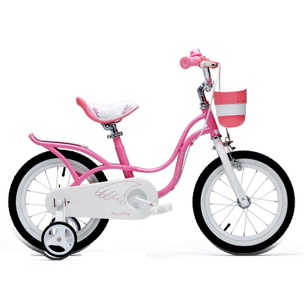 子供の自転車 ファッション子供の自転車 屋外の遠出子供の自転車 2-10人の男の子および女の子の屋外自転車 子供のための最高の贈り物 (Color : Pink, Size : 14 inches) 14 inches Pink B07Q5LWQMM