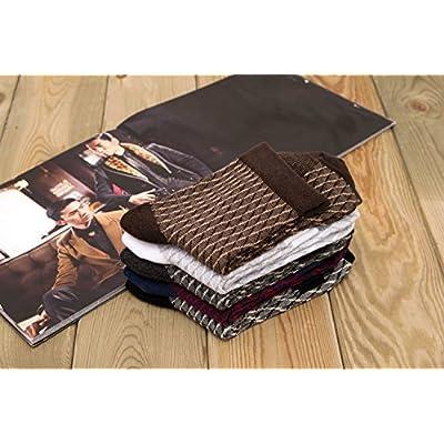 ZYTAN flexible médian, chaussettes pour hommes d'affaires décontractée, Plaid, cylindre, coton, chaussettes pour hommes 5 paires