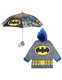 DC Comics - Juego de paraguas y paraguas para niños, diseño de Batman o Superman