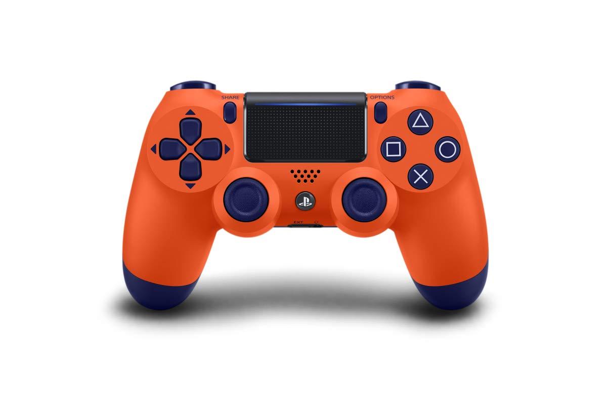 Amazon Com Sony Ps4 Dualshock Wireless Controller Sunset Orange Video Games