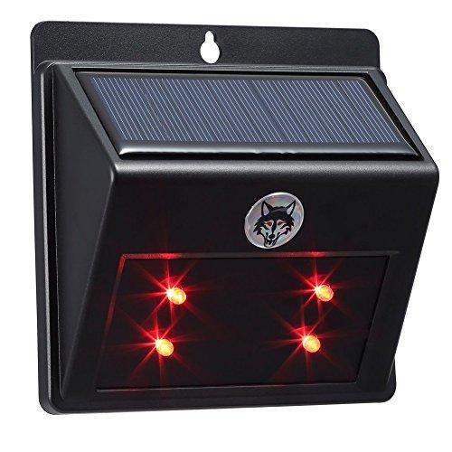 LEDHOLYT Outdoor Solar Powered Predator Eyes Animal Deterrent Repeller Light