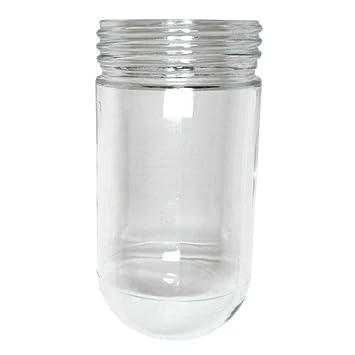 satco glass jelly jar maximum 100 watts light fixture cover