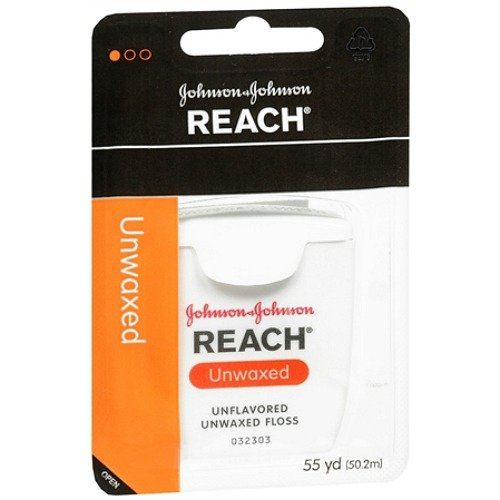 Reach Dental Unflavored Floss Unwaxed - Reach Unwaxed Floss 55Yd Unflavored (6 Pieces)
