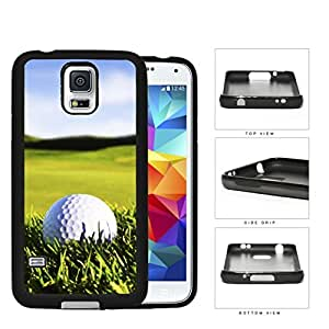 Golf Ball on Green Grass Rubber Silicone TPU Cell Phone Case Samsung Galaxy S5 SM-G900