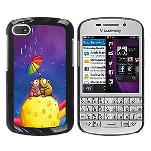 Be Good Phone Accessory // Dura Cáscara cubierta Protectora Caso Carcasa Funda de Protección para BlackBerry Q10 // Cute Mouse Couple Cheese