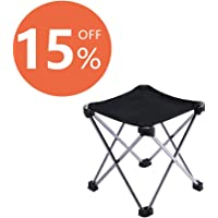 PORLAE  Folding Camping Stool Ultralight Portable Chair for Outdoor Fishing Hiking Backpack Travel Little Stools Super Compact Slacker Chair