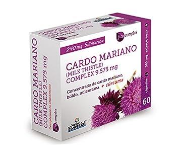 CARDO MARIANO (COMPLEX) 9.525 MG. (EXT. SECO) 60 CAPSULAS - Nature Essential: Amazon.es: Salud y cuidado personal