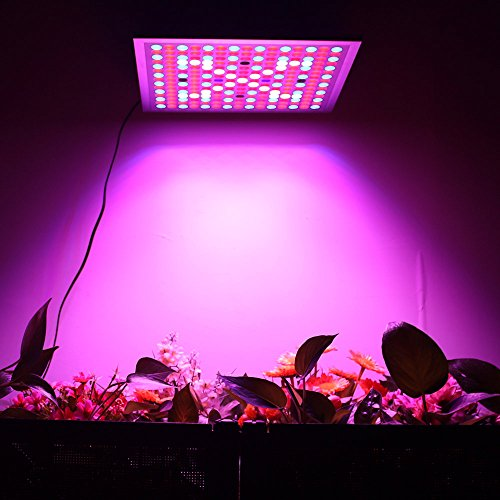 51DsN4O4z%2BL - KINGBO Reflector 45W LED Plant Grow Light Panel Full Spectrum 225 LEDs 6-Band Includ UV IR with Switch for Indoor Plants Seeding & Growing & Flowering