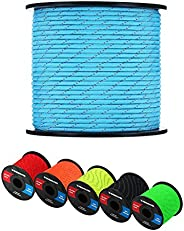WEREWOLVES Reflective 550 Paracord - 100% Nylon, Rope Roller, 7 Strand Utility Parachute Cord for Camping Tent