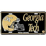 Signs 4 Fun SL448 Georgia Tech Gold Helmet License Plate