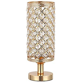 Haitral Gold Crystal Table Lamp Small Decorative