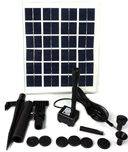 HSH-Flo New 15W Solar Power Outdoor Fountain Water Pump Kit Submersible Pond Pool by HSH-Flo