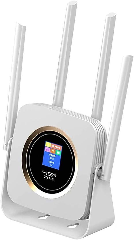 KuWFi Enrutador 4G portátil, Enrutador Wi-Fi móvil 4G de 300 ...