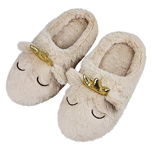 Slip Clogs Fleece (Womens Indoor Warm Fleece Slippers, Ladies Girls Winter Ultra Soft Cozy Thermal Non-slip Footwear Clog Scuff Fuzzy Plush Cotton Mules Home Dormitory Bedroom Floor Slip-on Shoes Ankle Boots)