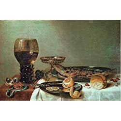 The Perfect Effect Canvas Of Oil Painting 'Willem Claesz Heda,Still Life With A Roemer And Watch,about 1640' ,size: 30x45 Inch / 76x114 Cm ,this High Definition Art Decorative Prints On Canvas Is Fit For Kitchen Artwork And Home Decor And Gifts