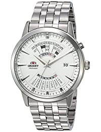 Orient Men's 'Multi-Calendar' Japanese Stainless Steel Automatic Watch, Color:Silver-Toned (Model: FEU0A003W0)