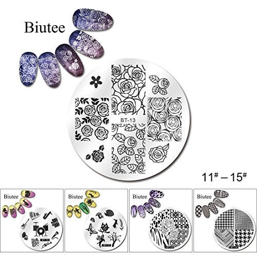 biutee-5pcs-nail-stamping-plates-nail-art-stamping-image-plates-set-classical-stripes-leaves-flowers