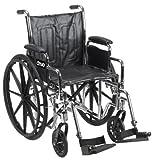 Chrome Sport WC 18 Adj Ht Detach Full Arms S/A Footrests