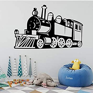 Baobaoshop Claasic Steam Train Pegatinas de Pared Extraíble ...