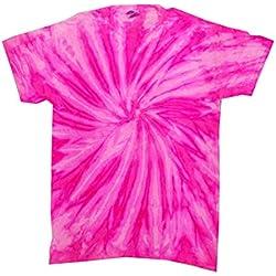 Colortone Tie Dye T-Shirt LG Neon Bubblegum