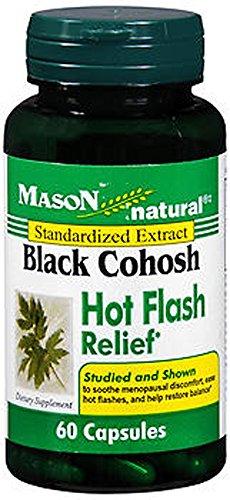 Mason Mason Natural Black Cohosh Hot Flash Relief, 60 Capsules