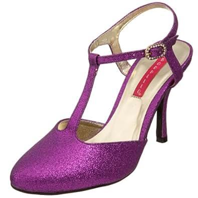 Bordello by Pleaser Women's Violette-12G Sandal,Purple Glitter,7 M US