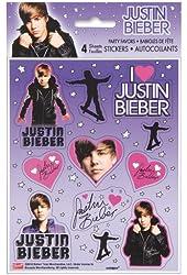 Justin Bieber Stickers, 4ct